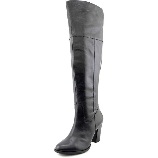Me Too Harte 6 Women  Round Toe Leather Black Knee High Boot
