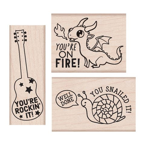 Rockin' It Wood Stamps Set - One Size