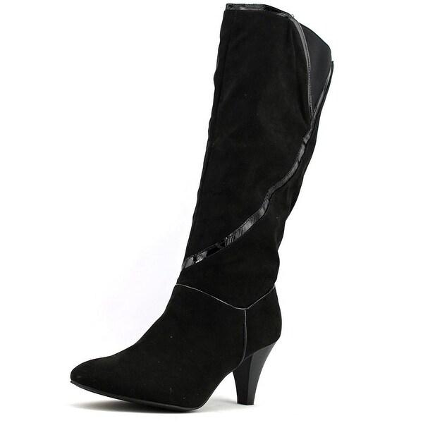 Karen Scott Mailaa Women  Round Toe Synthetic Black Knee High Boot