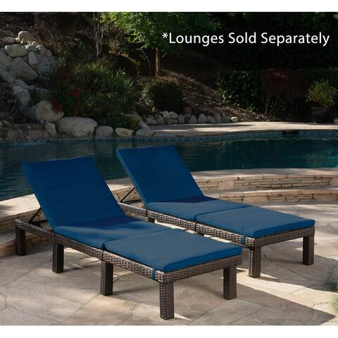Jamaica Chaise Lounge Cushion (Set of 2) by Christopher Knight Home