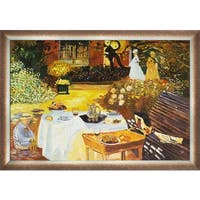 Claude Monet 'The Luncheon' Hand Painted Oil Reproduction