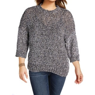 Joseph Womens Pullover Sweater Paper Tweed Knit 3/4 Sleeves - XL