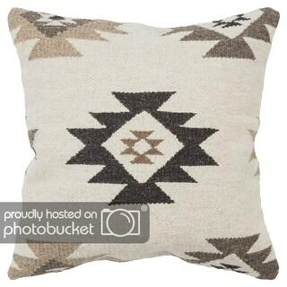 "Rizzy Home Beige 22"" x22"" Southwestern Decorative Pillow"