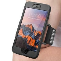 iPhone 7 Plus Armband, SUPCASE Easy Fitting Sport Running Armband Case with Premium Flexible Case Combo-Black