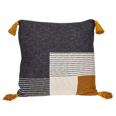 Parkland Collection Fedrik Transitional Grey Throw Pillow