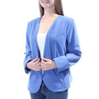 Womens Blue Wear To Work Blazer Jacket Size 10