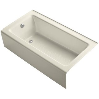 """Kohler K-875 Bellwether Collection 60"""" Three Wall Alcove Bath Tub with Integral Apron and Left Hand Drain"""