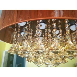 Modern 42 5 Inch Foldable 4 Blades Led Ceiling Fans Crystal Chandelier Free Shipping Today 18909768