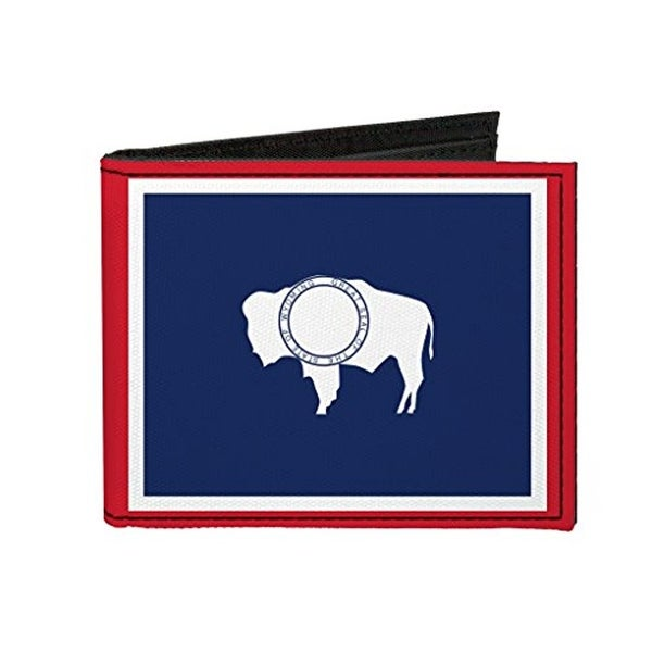 Buckle-Down Canvas Bi-fold Wallet - Wyoming Flag Accessory