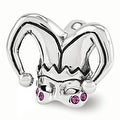 Sterling Silver Reflections Swarovski Elements Jester Mask Bead (4mm Diameter Hole) - Thumbnail 0