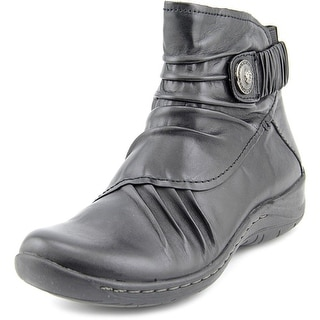Earth Thyme  Women  Round Toe Leather  Ankle Boot