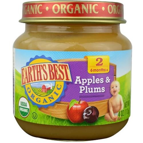 Earth's Best - Organic Apples & Plums ( 12 - 4 OZ)