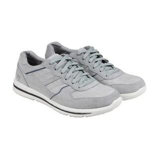 Skechers Doren Frazer Mens Grey Suede Lace Up Sneakers Shoes
