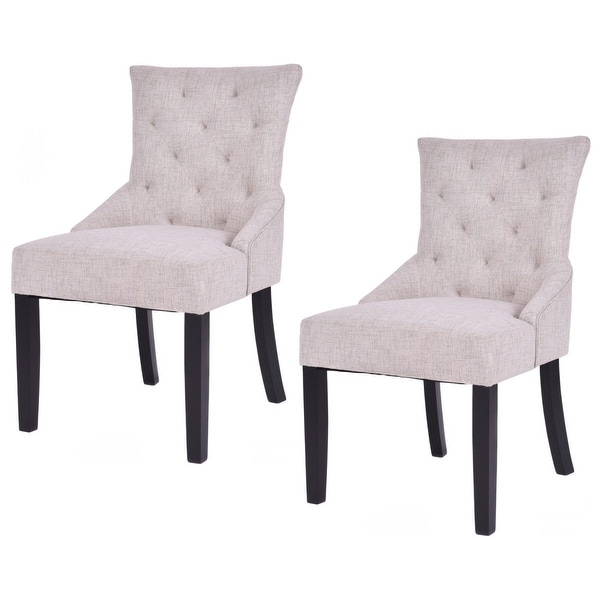 Dining Chairs Modern Design: Shop Costway Set Of 2 Dining Chairs Armless Chair Tufted