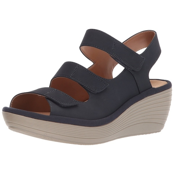1bef0f13131 Shop CLARKS Women s Reedly Juno Wedge Sandal - Free Shipping On ...
