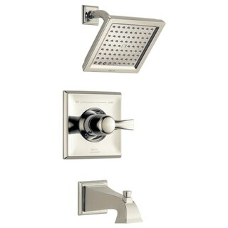 Delta T14451-WE Dryden Pressure Balanced Tub and Shower Trim Package with 2.0 GPM Single Function Shower Head and Touch Clean