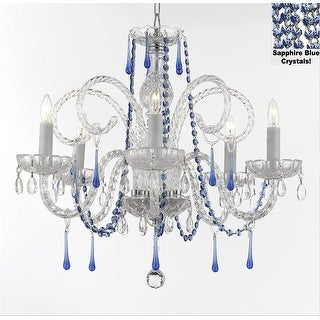 Crystal Chandelier With Blue Crystals