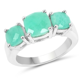 Link to Malaika 3.74 Carat Genuine Emerald .925 Sterling Silver Ring Similar Items in Necklaces