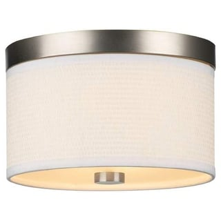 "Forecast Lighting F615236 2 Light 10.25"" Wide Flush Mount Ceiling Fixture from the Cassandra Collection - Satin Nickel"
