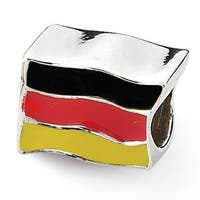 Sterling Silver Reflections Germany Flag Bead (4mm Diameter Hole)