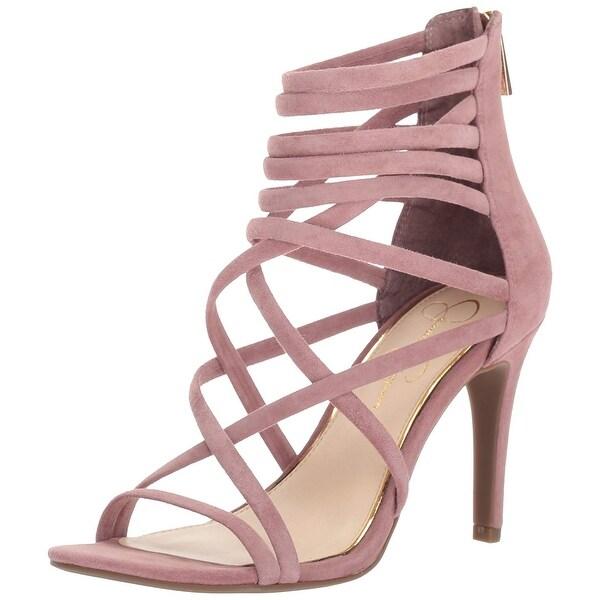 Jessica Simpson Women's Harmoni Heeled Sandal, Mauve Taupe, Size 6.5