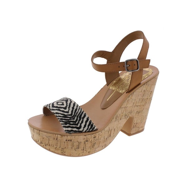Dolce Vita Womens Randi Platform Sandals Cork Open Toe