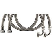 Certified Appliance Wm72Ssl2Pk Braided Stainless Steel Washing Machine Hose With Elbow, 2 Pk (6Ft)