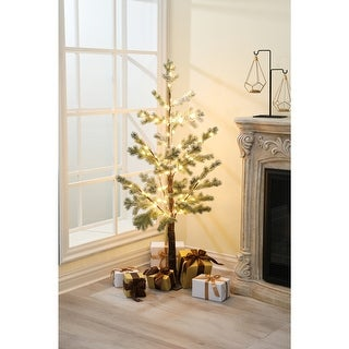 Link to Pre-Lit Clear LED 4ft Porch Artificial Pine Tree Similar Items in Accent Pieces