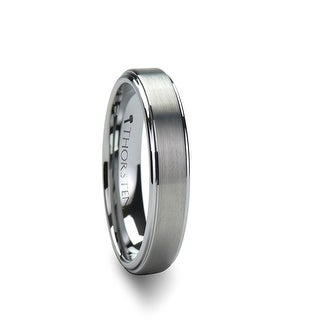THORSTEN - OPTIMUS Raised Center with Brush Finish Tungsten Ring - 4mm (Option: 3.5)