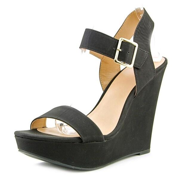 Mix No 6 Jordie Women Open Toe Synthetic Black Wedge Sandal