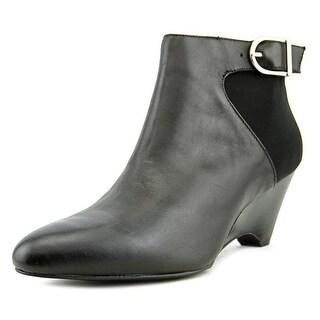 Alfani Ulrika Women Round Toe Leather Bootie