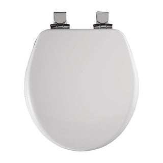 Bemis 9170CHSL Round Close-Front Toilet Seat with Chrome Hinges and Lid with Whisper-Close? and STA-TITE? Seat Fastening System?