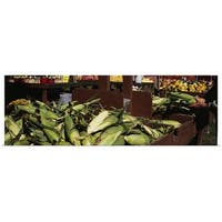 Poster Print entitled Corncobs in a market stall, Grand Rapids, Kent County, Michigan - Multi-color
