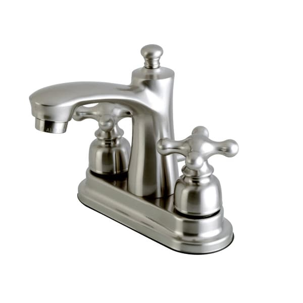 Kingston Brass FB762.AX Victorian 1.2 GPM Centerset Bathroom Faucet with Pop-Up Drain Assembly and Metal Cross Handles