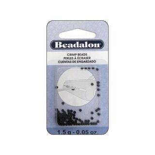 Beadalon Crimp Bead 2.0mm Black 1.5gm