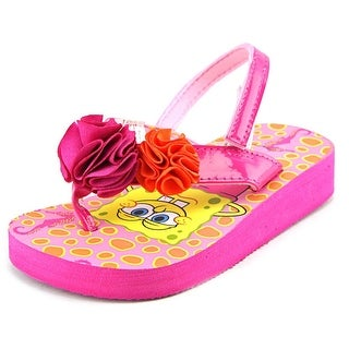 Nickelodeon Spongebob Square Pants Open Toe Synthetic Flip Flop Sandal