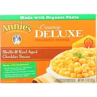 Annies Homegrown Macaroni Dinner - Creamy Deluxe - Shells and Real Aged Cheddar Sauce - 11 oz - case of 12