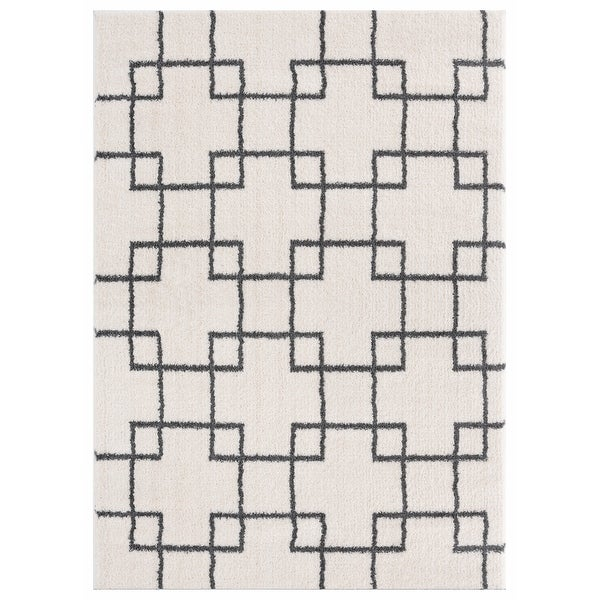 Carson Carrington Tosarbo Modern Machine-made Shag Area Rug. Opens flyout.