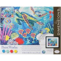 """Paint Works Paint By Number Kit 14""""X11""""-Sea Turtles"""
