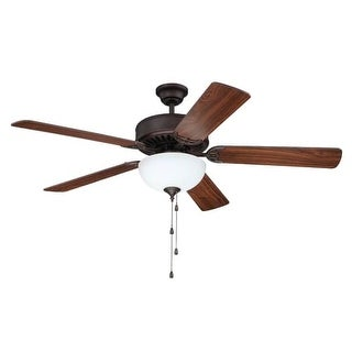 """Craftmade C207 Pro Builder 207 42"""" - 52"""" 5 Blade Ceiling Fan - Light Kit Included - Requires Blade Selection"""