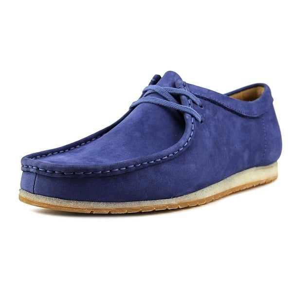Clarks Artisan Wallabee Step Men Moc Toe Leather Blue Oxford