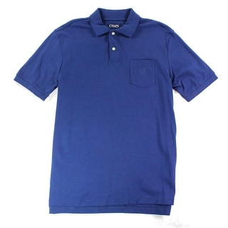Chaps NEW Blue Navy Mens Size Medium M Short Sleeve Pocket Polo Shirt