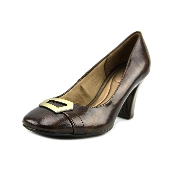 Life Stride Priscilla Women Round Toe Synthetic Bronze Heels