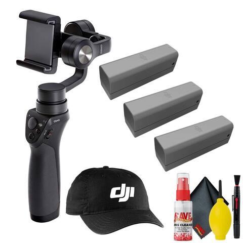 DJI Osmo Mobile Gimbal Stabilizer - DJI Cap + Battery 3 Total - Clean