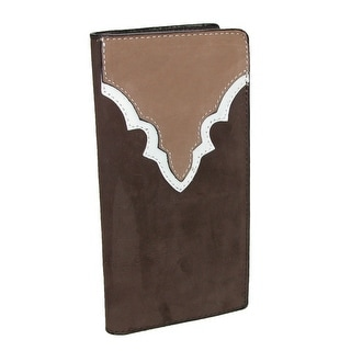 CTM® Men's Heavy Duty Leather Western Rodeo Checkbook Cover - One Size