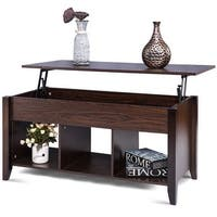 Costway Lift Top Coffee Table w/ Hidden Compartment Storage Shelf Living Room Furniture