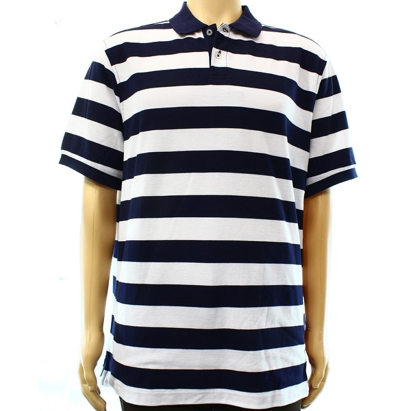 6d903467241 Shop CLUB ROOM NEW Navy Blue White Mens Size Medium M Striped Polo Shirt - Free  Shipping On Orders Over $45 - Overstock - 19980264