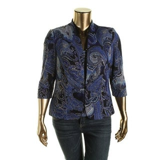 Alex Evenings Womens 2PC Paisley Twinset