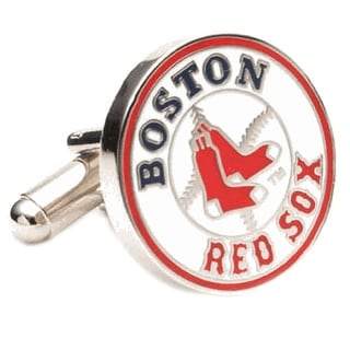 Nickel Plated Boston Red Sox Cufflinks