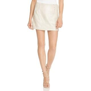 Rebecca Minkoff Womens Penny Skirt Mini Skirt Sequined Polyester